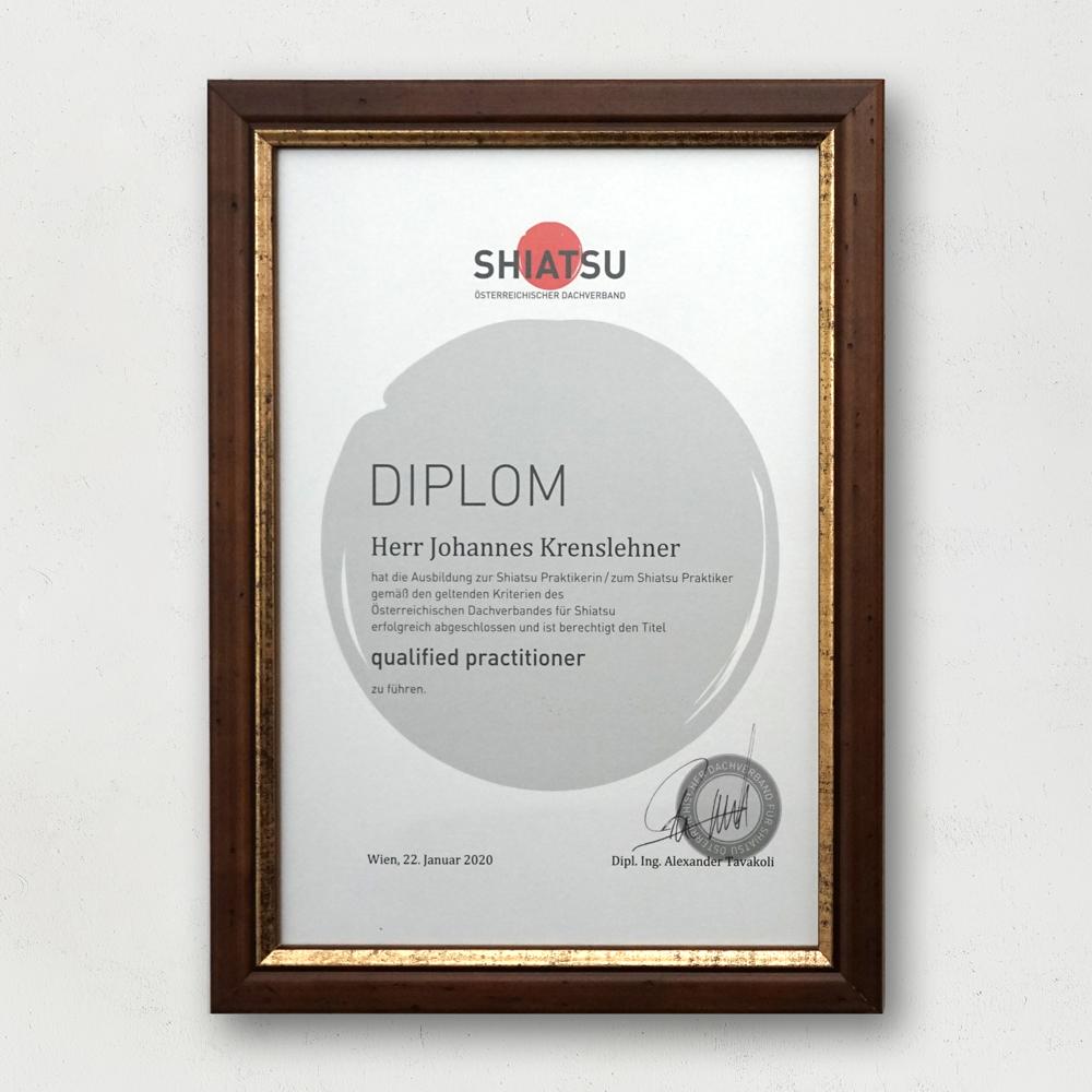 Shiatsu Diplom Johannes Krenslehner Canopyroots Shiatsu Lambach